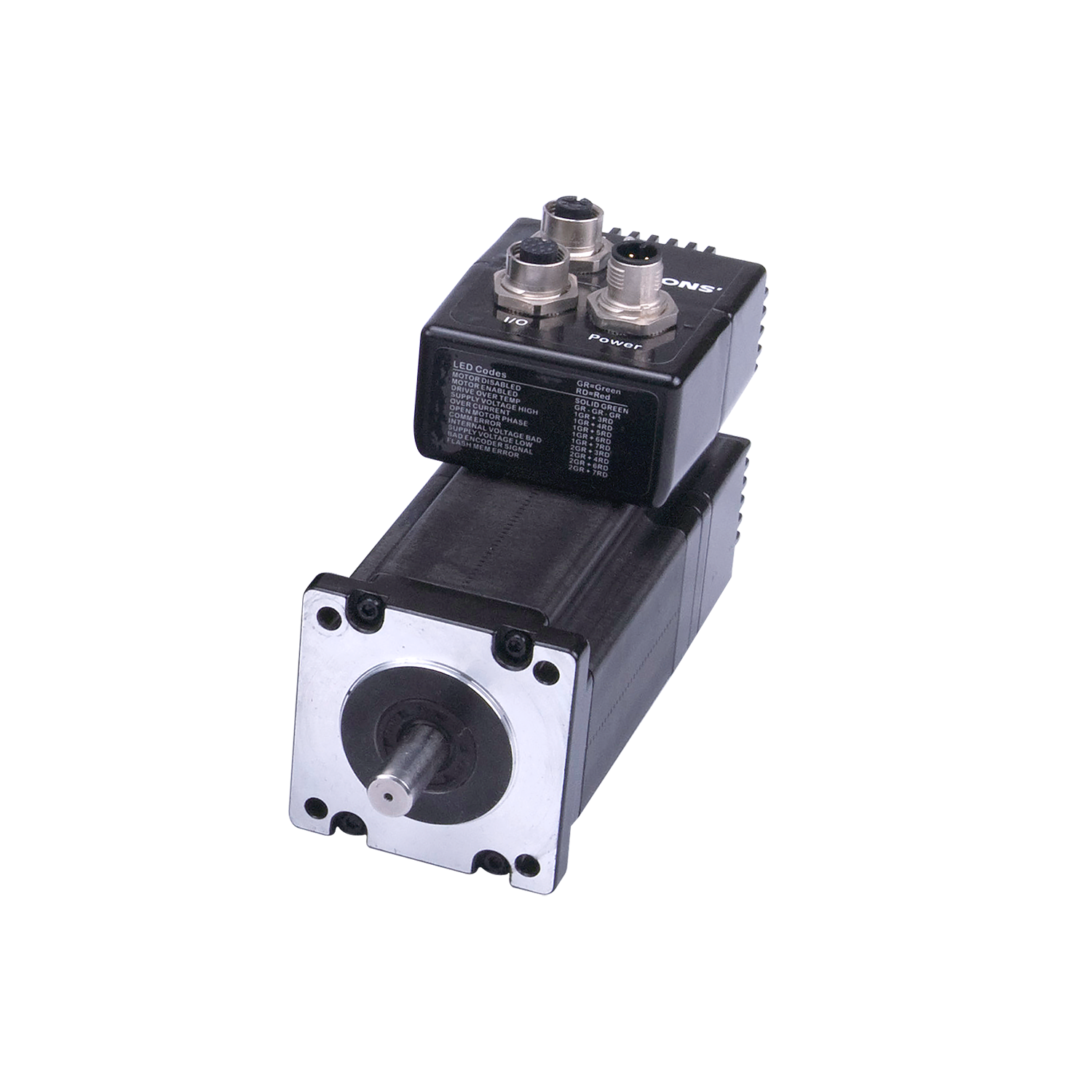 Integrated step-servo motor IP65